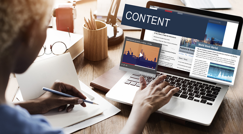 how to create content for website