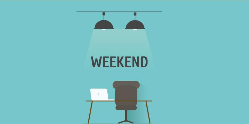 Do successful people work on weekends?