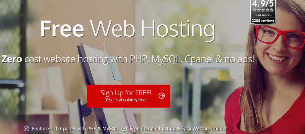 Get The Free Web Hosting Services With The Zero Additional Cost